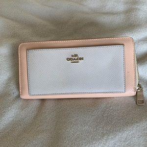 Peach coach wallet